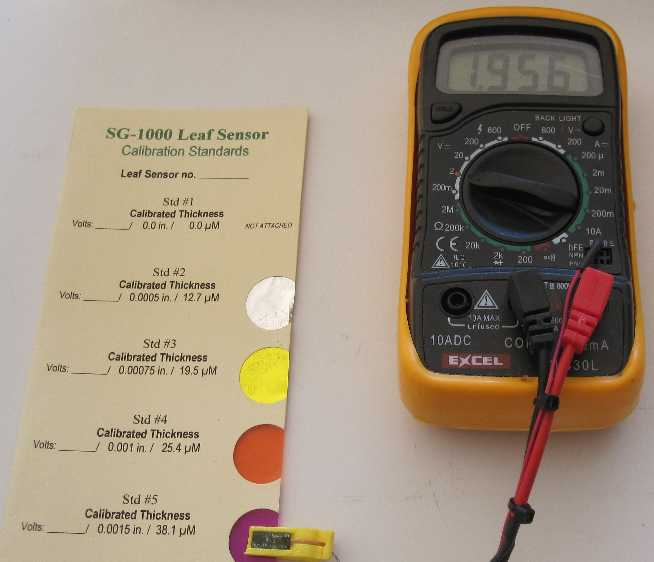 Leaf Sensor - Digital Meter - Calibration Card Combo Pak